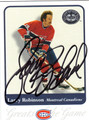LARRY ROBINSON AUTOGRAPHED HOCKEY CARD #111112S