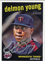 DELMON YOUNG AUTOGRAPHED BASEBALL CARD #111112L