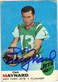 DON MAYNARD NEW YORK JETS AUTOGRAPHED VINTAGE FOOTBALL CARD #111212F