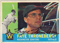 FAYE THRONEBERRY AUTOGRAPHED VINTAGE BASEBALL CARD #111212A