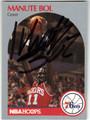 MANUTE BOL PHILADELPHIA 76ers AUTOGRAPHED BASKETBALL CARD #111513F