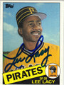 LEE LACY AUTOGRAPHED VINTAGE BASEBALL CARD #111812A