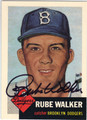 RUBE WALKER BROOKLYN DODGERS AUTOGRAPHED BASEBALL CARD #111713L