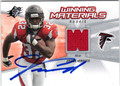 JERIOUS NORWOOD AUTOGRAPHED PIECE OF THE GAME ROOKIE FOOTBALL CARD #112012F