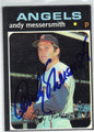 ANDY MESSERSMITH CALIFORNIA ANGELS AUTOGRAPHED VINTAGE BASEBALL CARD #111913F