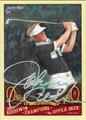 JOHNNY MILLER AUTOGRAPHED GOLF CARD #112111L