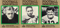 ERNIE NEVERS, EMLEN TUNNELL & JOE STYDAHAR SET OF 3 FOOTBALL CARDS #112012K