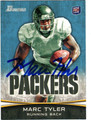 MARC TYLER GREEN BAY PACKERS AUTOGRAPHED ROOKIE FOOTBALL CARD #11213B