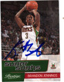 BRANDON JENNINGS MILWAUKEE BUCKS AUTOGRAPHED ROOKIE BASKETBALL CARD #11213C