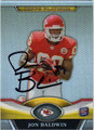 JON BALDWIN AUTOGRAPHED ROOKIE FOOTBALL CARD #112212C