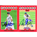 PHIL HUGHES & CHIEN-MING WANG SET OF 2 AUTOGRAPHED BASEBALL CARDS #112310G