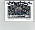 STEVE McNAIR AUTOGRAPHED PIECE OF THE GAME FOOTBALL CARD #112112G