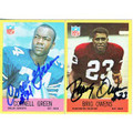 CORNELL GREEN & BRIG OWENS AUTOGRAPHED FOOTBALL CARDS #112310H