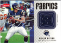 PHILIP RIVERS AUTOGRAPHED PIECE OF THE GAME FOOTBALL CARD #112311W