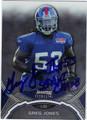 GREG JONES AUTOGRAPHED ROOKIE FOOTBALL CARD #112312J