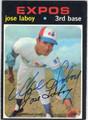 JOSE LABOY MONTREAL EXPOS AUTOGRAPHED VINTAGE BASEBALL CARD #112413B