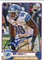 NICK FAIRLEY DETROIT LIONS AUTOGRAPHED FOOTBALL CARD #112413F