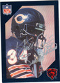 WALTER PAYTON CHICAGO BEARS AUTOGRAPHED FOOTBALL CARD #112413i