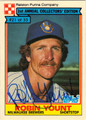 ROBIN YOUNT AUTOGRAPHED VINTAGE BASEBALL CARD #112511R