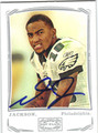 DeSEAN JACKSON AUTOGRAPHED ROOKIE FOOTBALL CARD #112412R