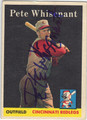 PETE WHISENANT CINCINNATI REDLEGS AUTOGRAPHED VINTAGE BASEBALL CARD #112713F
