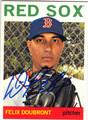 FELIX DOUBRONT BOSTON RED SOX AUTOGRAPHED BASEBALL CARD #112713L