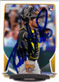 ALI SOLIS PITTSBURGH PIRATES AUTOGRAPHED ROOKIE BASEBALL CARD #112613C