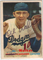AL RUBE WALKER BROOKLYN DODGERS AUTOGRAPHED VINTAGE BASEBALL CARD #112813J