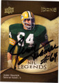JERRY KRAMER AUTOGRAPHED & NUMBERED FOOTBALL CARD #112911H