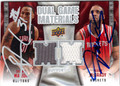 SHAWN MARION & TRACY McGRADY DOUBLE AUTOGRAPHED PIECE OF THE GAME BASKETBALL CARD #112912M