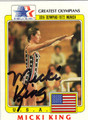 MICKI KING OLYMPIC DIVING AUTOGRAPHED CARD #112913C