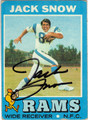 JACK SNOW LOS ANGELES RAMS AUTOGRAPHED VINTAGE FOOTBALL CARD #112913S
