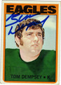 TOM DEMPSEY AUTOGRAPHED FOOTBALL CARD #113010i