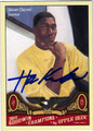 HAKEEM OLAJUWON HOUSTON ROCKETS AUTOGRAPHED BASKETBALL CARD #11312N