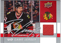 BRIAN CAMPBELL CHICAGO BLACKHAWKS AUTOGRAPHED PIECE OF THE GAME HOCKEY CARD #11313C