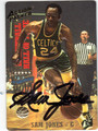 SAM JONES BOSTON CELTICS AUTOGRAPHED BASKETBALL CARD #11413D