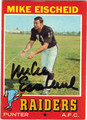 MIKE EISCHEID OAKLAND RAIDERS AUTOGRAPHED VINTAGE FOOTBALL CARD #11413F