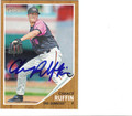 CHANCE RUFFIN DETROIT TIGERS AUTOGRAPHED ROOKIE BASEBALL CARD #11413R