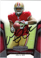 MICHAEL CRABTREE AUTOGRAPHED ROOKIE FOOTBALL CARD #11512D