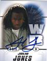 JULIO JONES ALABAMA CRIMSON TIDE AUTOGRAPHED ROOKIE FOOTBALL CARD #11513D
