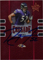 RAY LEWIS AUTOGRAPHED & NUMBERED FOOTBALL CARD #11612G