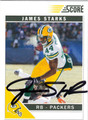 JAMES STARK AUTOGRAPHED FOOTBALL CARD #11712i
