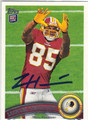 LEONARD HANKERSON WASHINGTON REDSKINS AUTOGRAPHED ROOKIE FOOTBALL CARD #11713D