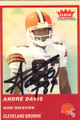 Andre Davis Autographed Football Card 1181