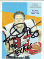 KEVIN WALTER HOUSTON TEXANS AUTOGRAPHED FOOTBALL CARD #11813D