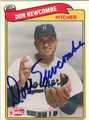 DON NEWCOMBE BROOKLYN DODGERS AUTOGRAPHED BASEBALL CARD #11813E