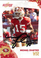 MICHAEL CRABTREE AUTOGRAPHED ROOKIE FOOTBALL CARD #11912R