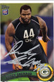 DEREK SHERROD AUTOGRAPHED ROOKIE FOOTBALL CARD #120211R