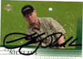 GARY NICKLAUS AUTOGRAPHED GOLF CARD #120111A