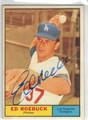 ED ROEBUCK LOS ANGELES DODGERS AUTOGRAPHED VINTAGE BASEBALL CARD #120213F
